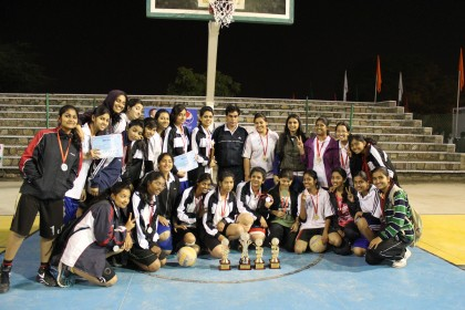 Awards for the CET students at the MNIT Sports Tournament