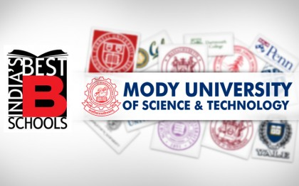 Mody University of Science and Technology has been put in A Category by Indian Management; acknowledging as one of the best B-school in India