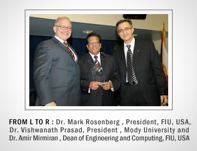 Mody University of Science and Technology (MUST)  signs MOU with Florida International University (FIU) , Miami ,USA