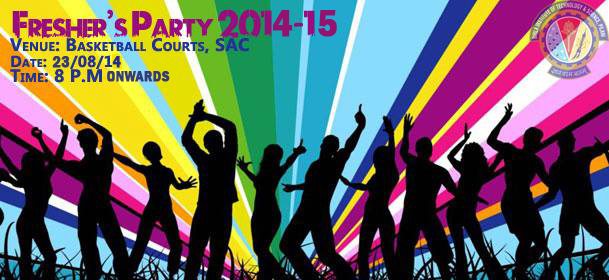 Freshers party BTech Artwork 2 1 We pledge for a new endeavour  Freshers Day 2014 at CET Mody University