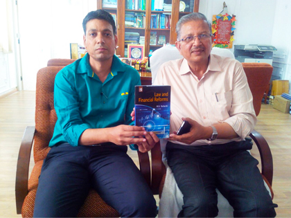 news2 'Law & Financial Reforms'  A Book by Dr. R. S. Solanki