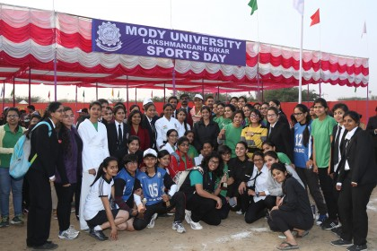 Annual Sports Day of Mody University (25th January)