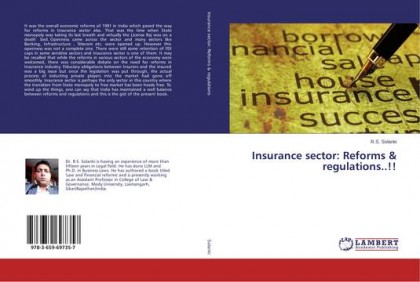 """Insurance Sector: Reforms & regulations"" – A book by Dr. R.S.Solanki, College of law & Governance"