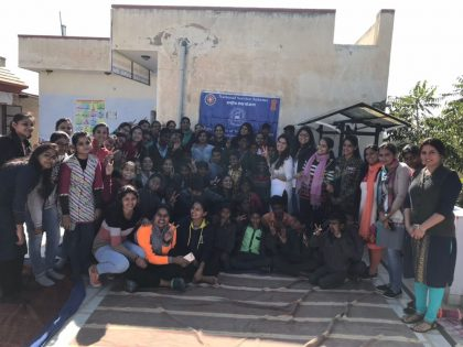 Mody University visits orphanage in Sikar; donates blankets, winter clothes