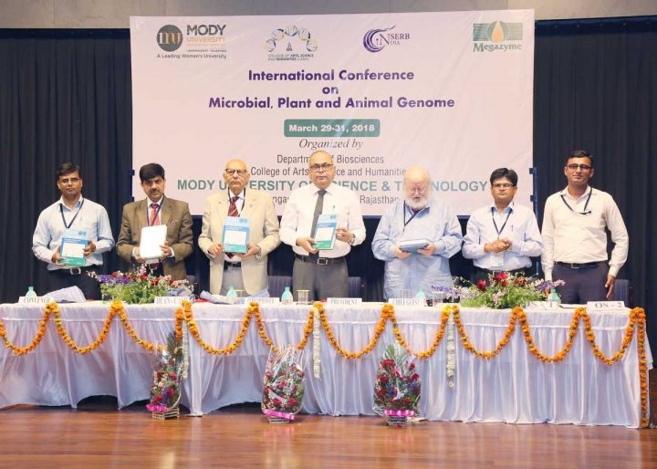 6P9A9991 1 720x514 Conference on Microbial, Plant and Animal Genomes 2018 is being held at Mody University