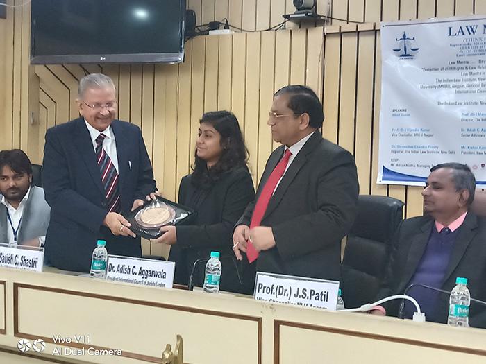 sol img Prof. Shastri felicitated at an International Seminar in Delhi